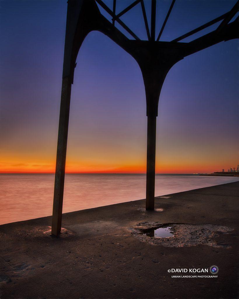 Sunrise at Montrose Tower Chicago