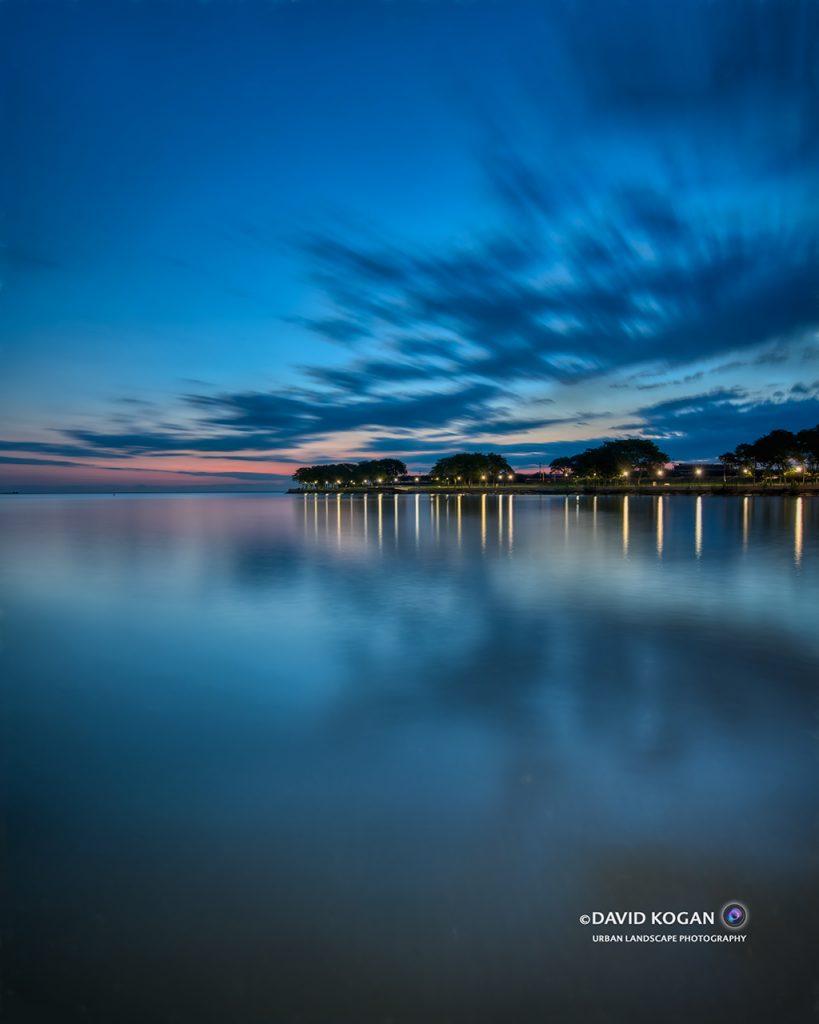 Sunrise at Lake Michigan and Olive Park