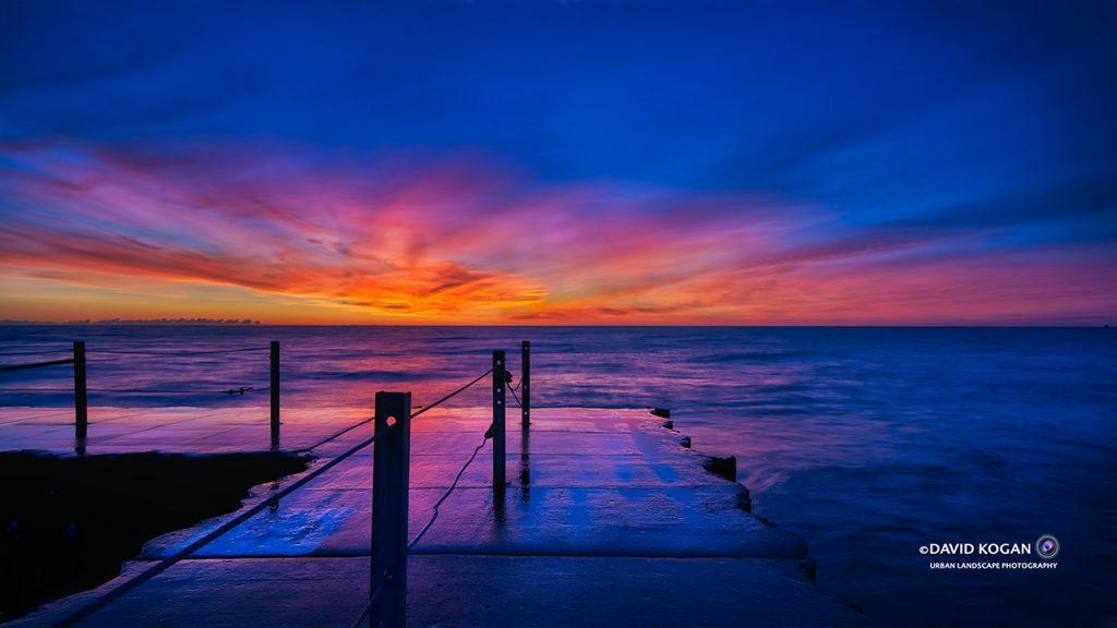 Purple Sky at Hartigan Beach Pier