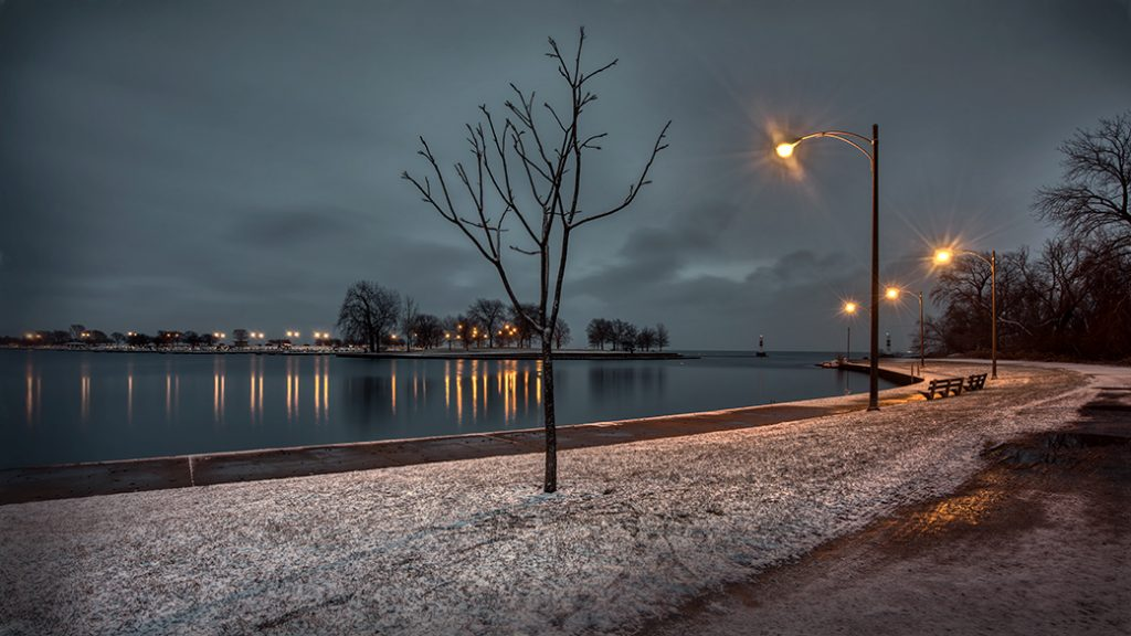 Early Morning at Montrose Harbor