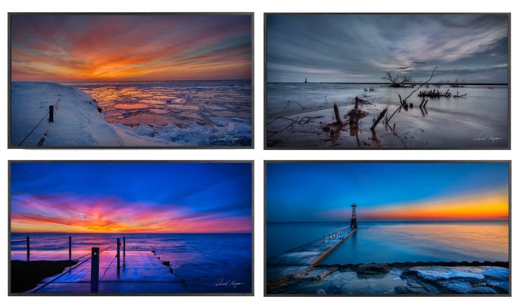 Lake Michigan Winter, Sunrise Lake Michigan