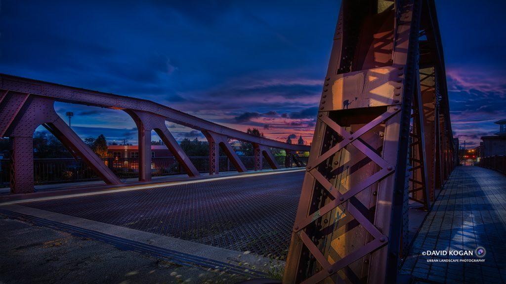 Purple Sunrise Webster Street Bridge