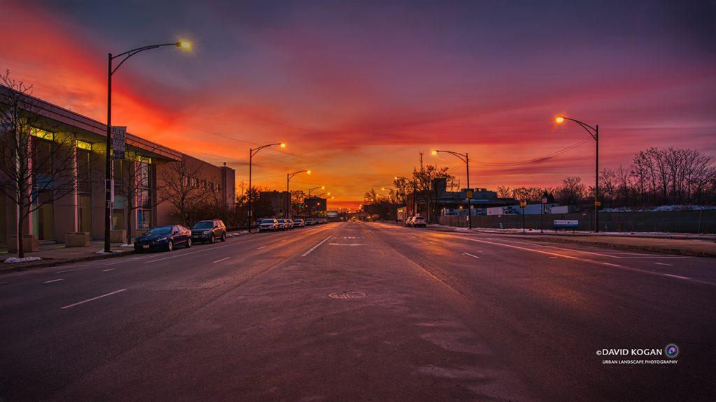 Milwaukee Ave Sunrise