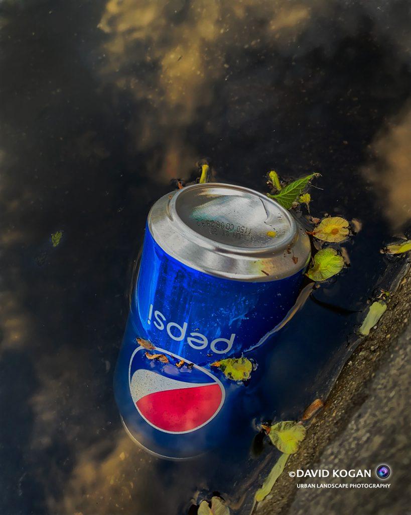 Rain Puddle Pepsi