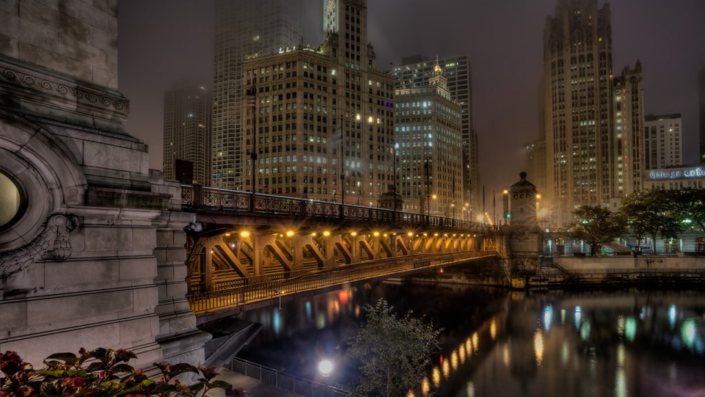 Foggy Morning - Michigan Ave Bridge